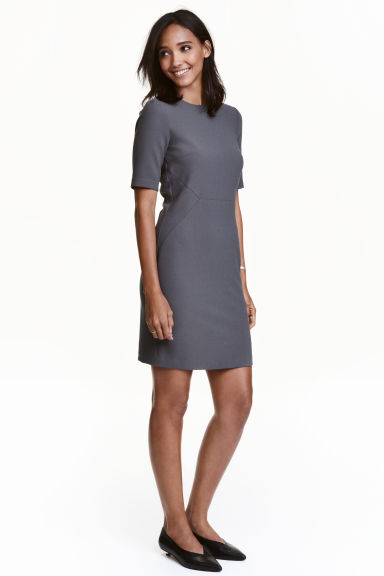 Abito increspato - Grigio scuro - DONNA | H&M IT 1