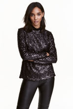 Top con paillettes - Nero - DONNA | H&M IT 1