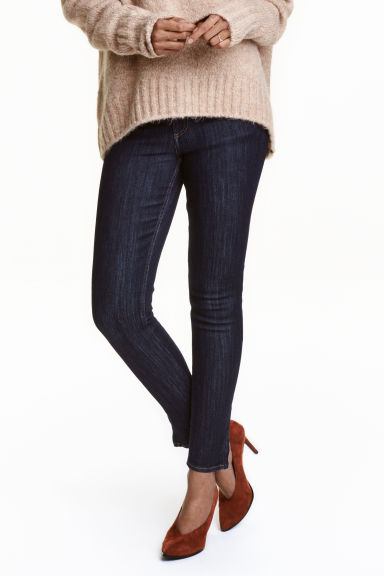 Skinny Low Ankle Jeans - 深牛仔蓝 - 女士 | H&M CN 1