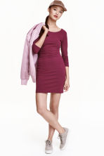 Jersey dress - Dark heather purple - Ladies | H&M CN 1