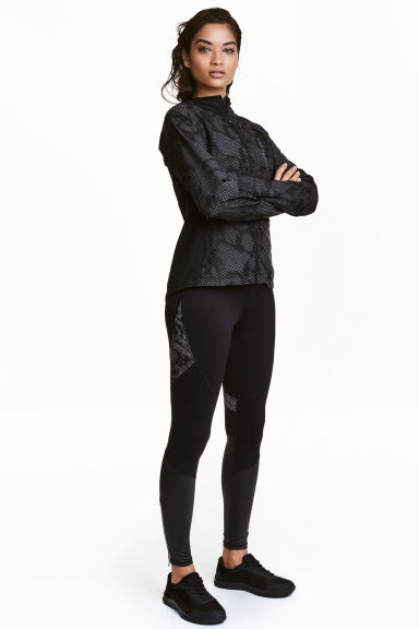Running tights - Black - Ladies | H&M CN