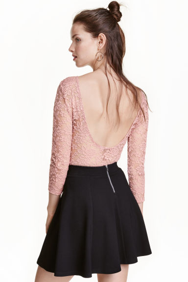 Lace body - Old rose - Ladies | H&M CA 1