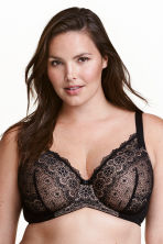 Padded bra E/F cup - Black - Ladies | H&M CN 1