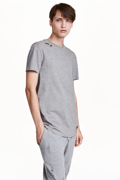 Trashed T-shirt - Grey - Men | H&M CN 1