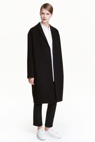 Cashmere-blend coat - Black - Ladies | H&M CN 1
