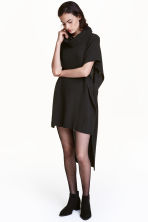 Ribbed poncho - Black - Ladies | H&M CN 1