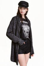 Bouclé cardigan - Dark grey - Ladies | H&M CN 1