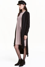Long sweatshirt cardigan - Black - Ladies | H&M CN 1