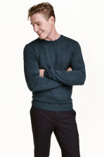 Merino wool jumper - Dark petrol - Men | H&M CN 1
