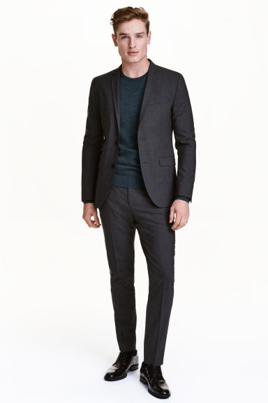 Wool suit trousers Skinny fit - Dark grey -  | H&M CA 1