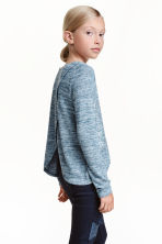 Fine-knit printed jumper - Blue marl - Kids | H&M CN 1