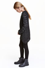 Chunky-knit jumper - Black/White marl - Kids | H&M CN 1