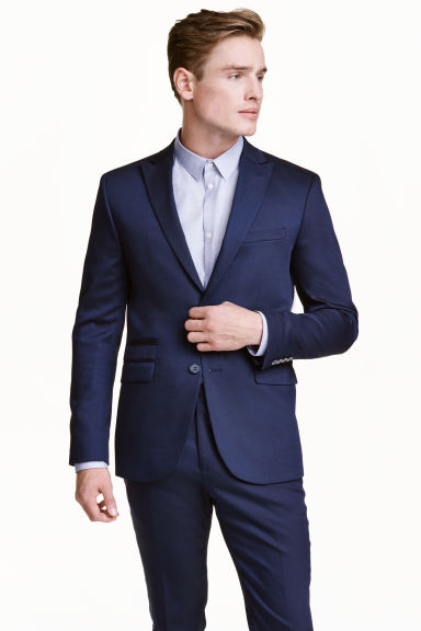 Jacket Slim fit - Navy blue -  | H&M IE