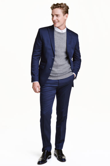 Suit trousers Slim fit - Navy blue -  | H&M CN