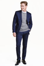 Pantaloni da completo Slim fit - Navy - UOMO | H&M IT 1