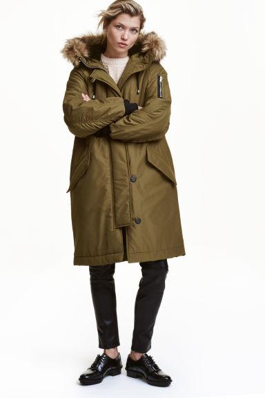 Padded parka - Khaki green - Ladies   H&M GB