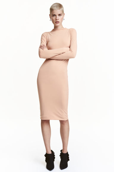 Turtleneck dress - Light beige - Ladies | H&M CN 1