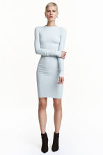Ribbed jersey dress - Light turquoise - Ladies | H&M CN 1