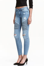 Biker Jeans Skinny Fit - Light denim blue - Ladies | H&M 2