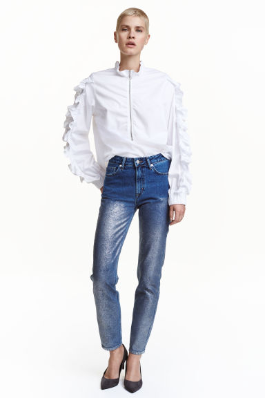 Jeans con coating argentato - Blu denim - DONNA | H&M CH