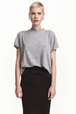 Top in a linen blend - Grey marl - Ladies | H&M CN 1