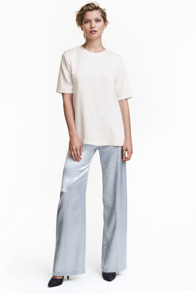 Wide trousers - Silver -  | H&M GB 1