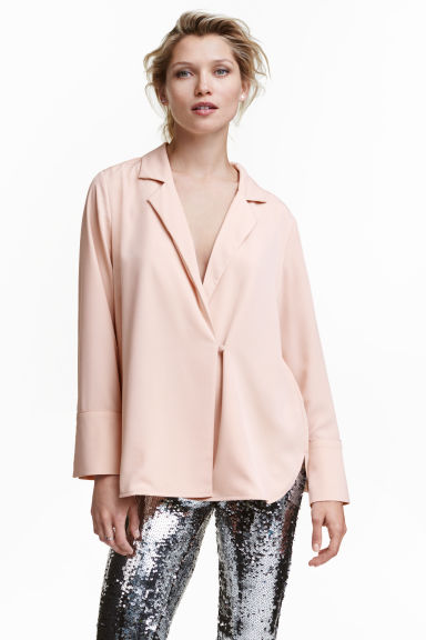Crêpe blouse - Powder - Ladies | H&M CN 1