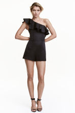One-shoulder playsuit - Black - Ladies | H&M CN 1