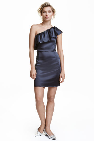 One-Shoulder-Kleid - Dunkelblau - DAMEN | H&M CH 1