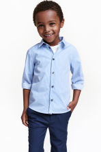 Easy-iron shirt - Blue/Striped - Kids | H&M CN 1