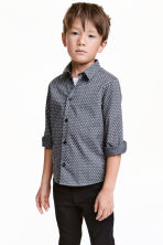 Easy-iron shirt - Dark grey/Stars - Kids | H&M CN 1