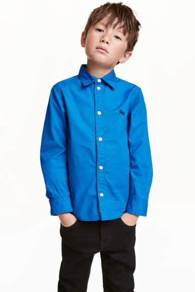 Cotton shirt - Cornflower blue - Kids | H&M CN 1