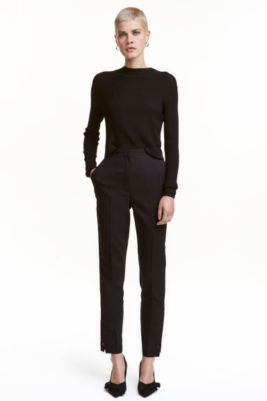 Suit trousers with press-studs - Black - Ladies | H&M CN 1