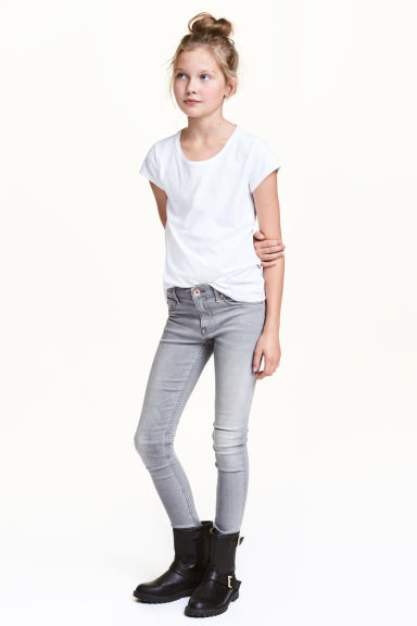 Superstretch Skinny Fit Jeans - Grey washed out - Kids | H&M CN 1
