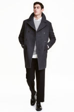 Wool-blend coat - Dark grey marl - Men | H&M CN 1