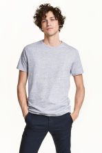 Round-neck T-shirt Regular fit - Grey marl - Men | H&M CN 1