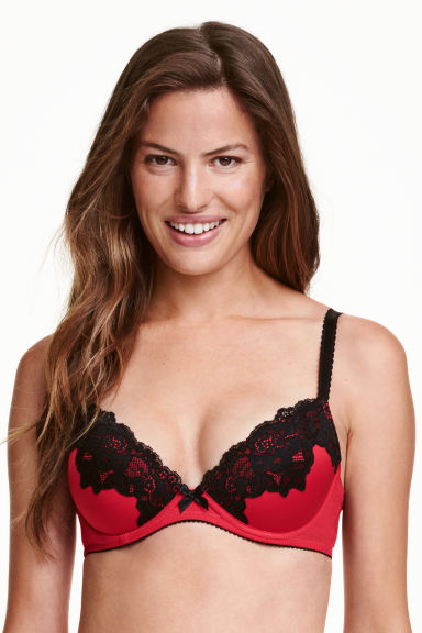 Push-up in microfibra - Rosso - DONNA | H&M IT 1