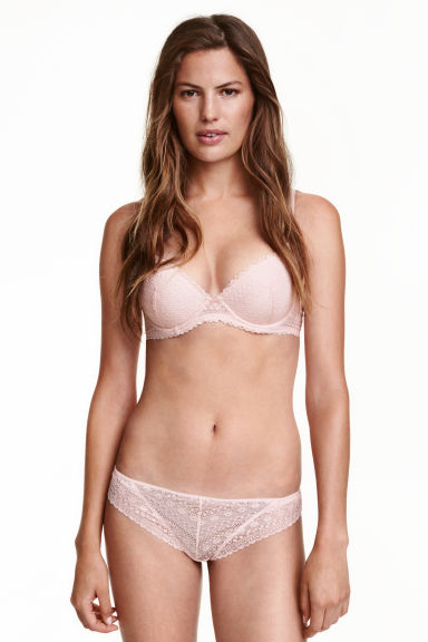 Lace half-string briefs - Light pink - Ladies | H&M CN
