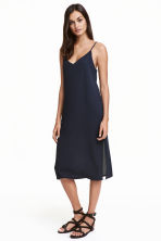 V-neck dress - Dark blue - Ladies | H&M CN 1