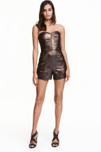 Glittery playsuit - Dark blue/Gold - Ladies | H&M CN 1