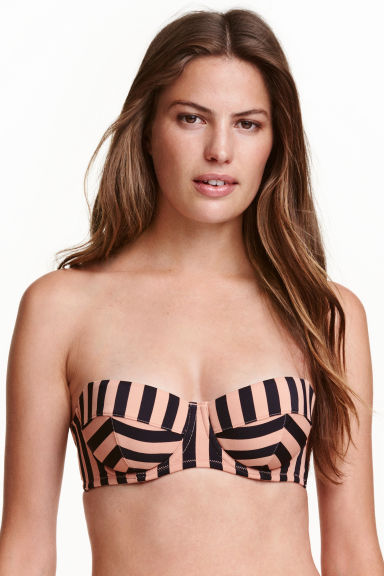 Balconette bikini top - Nougat/Striped - Ladies | H&M 1