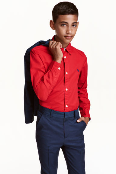 Cotton shirt - Red - Kids | H&M CN 1
