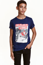 Printed T-shirt - Dark blue/Santa - Kids | H&M CN 1