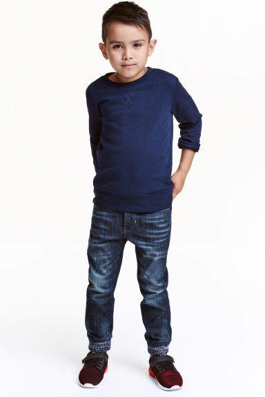 Denim joggers - Dark denim blue - Kids | H&M CN 1