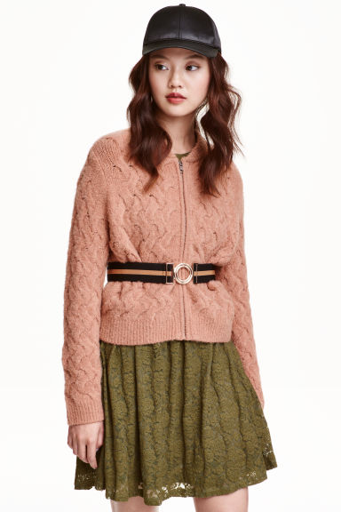 Knitted cardigan - Old rose - Ladies | H&M CN