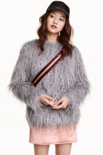 Faux fur jacket - Grey - Ladies | H&M GB 1