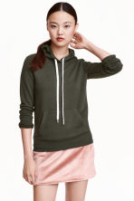 Hooded top - Dark Khaki - Ladies | H&M CN 1