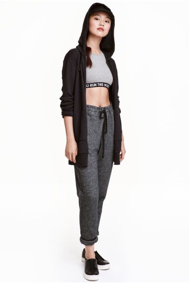 Sweatpants - Black marl - Ladies | H&M CN 1