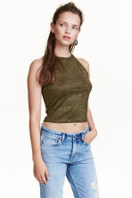 Glittery top - Gold - Ladies | H&M CN 1