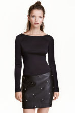 Jersey top - Black - Ladies | H&M CN 1